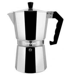 Гейзер Кофеварка Webber BE-0121 на 3 чашки (150 мл) серебристый/черный