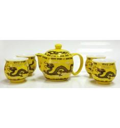 Набор Дракон на желтом: чайник 0,42л + 4ч. НЧФ-141